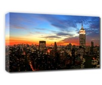 Canvastavla New York Sunset
