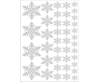 Frostade Snöflingor