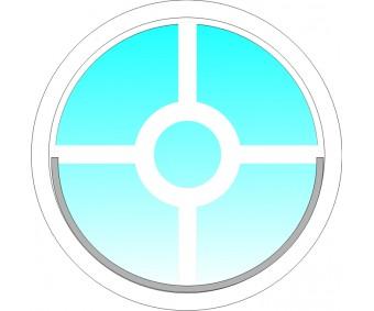 Vit Cirkel Spröjs till runt fönster