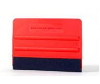 Monteringsskrapa Avery Röd med filt, Flexibel modell