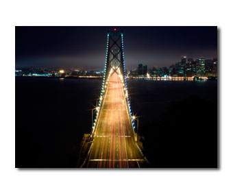 Poster San Francisco Golden Gate Live Traffic