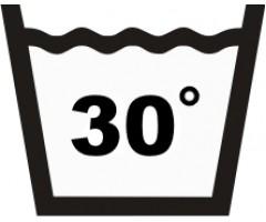 Väggdekal Tvättsymbol Tvätta 30 grader