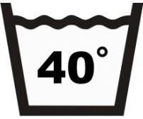 Väggdekal Tvättsymbol Tvätta 40 grader