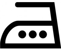 Väggdekal Tvättsymbol Strykjärn